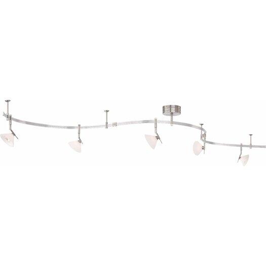 George Kovacs by Minka GK Lightrail 5 Light Kit with Acid Etched Shade