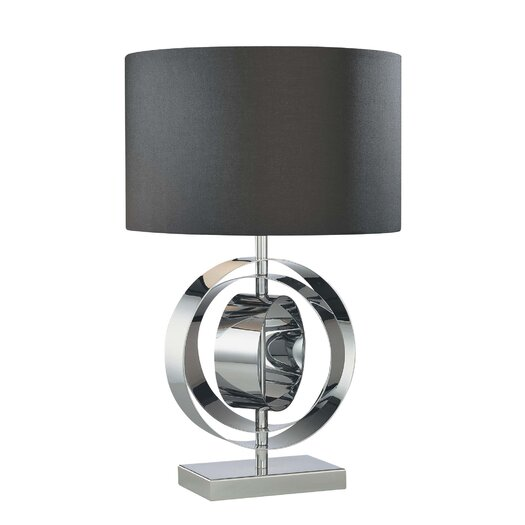 "George Kovacs by Minka Portable 25.25"" H Table Lamp with Drum Shade"