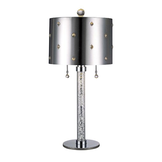 """George Kovacs by Minka Bling Bling 27"""" H Table Lamp with Drum Shade"""