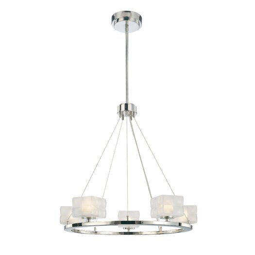 George Kovacs by Minka Squared 5 Light Chandelier