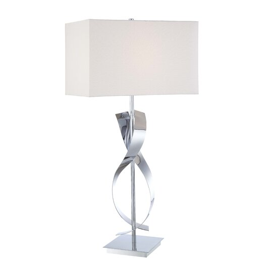 "George Kovacs by Minka Portables 25"" H Table Lamp with Rectangular Shade"