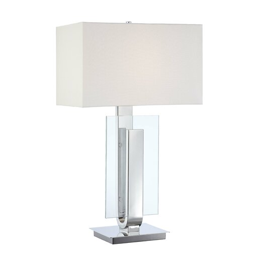 "George Kovacs by Minka Portables 31"" H Table Lamp with Rectangular Shade"