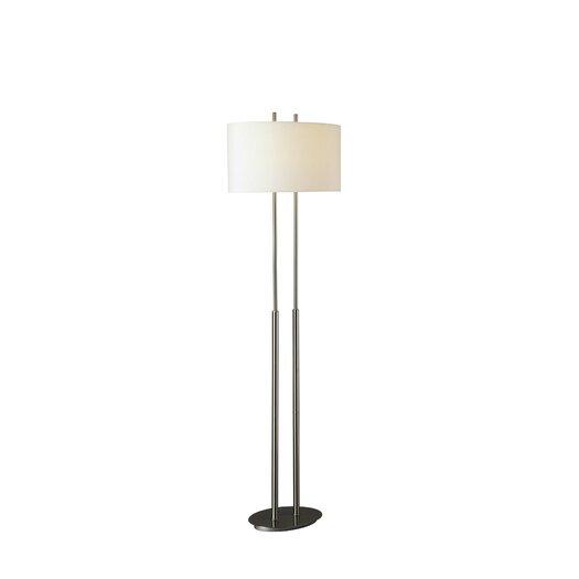 George Kovacs by Minka Floor Lamp with Linen Shade