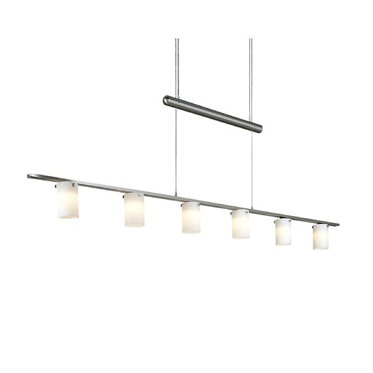 George Kovacs by Minka Counter Weights Chandelier in Brushed Nickel