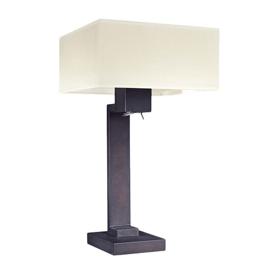 "George Kovacs by Minka Step 27"" H Table Lamp with Rectangular Shade"