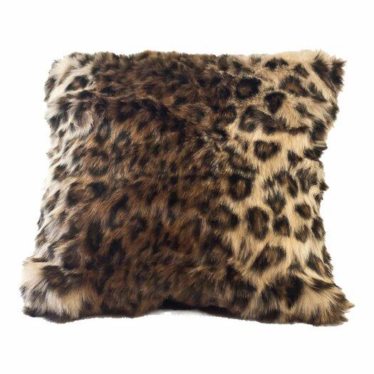 Posh Pelts Ocelot Faux Fur Pillow Cover