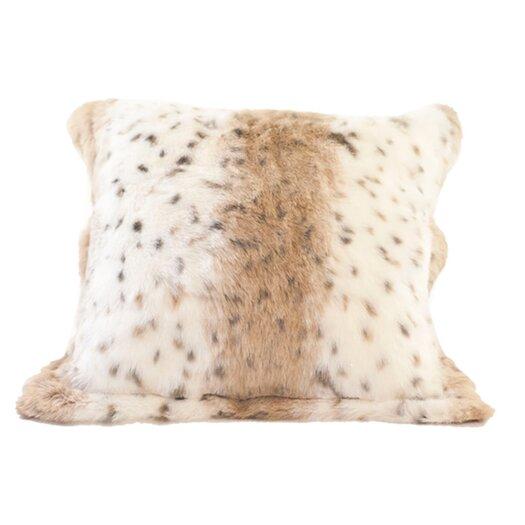 Posh Pelts Lynx Jacquard Faux Fur Pillow Cover