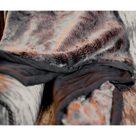 Posh Pelts Russet Chinchilla Throw Blanket