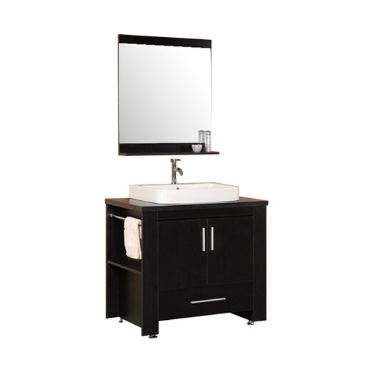 Design element washington 36 single modern bathroom for All modern bathroom vanity