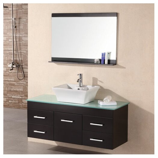 "Design Element Madrid 48"" Single Bathroom Vanity Set with Mirror"