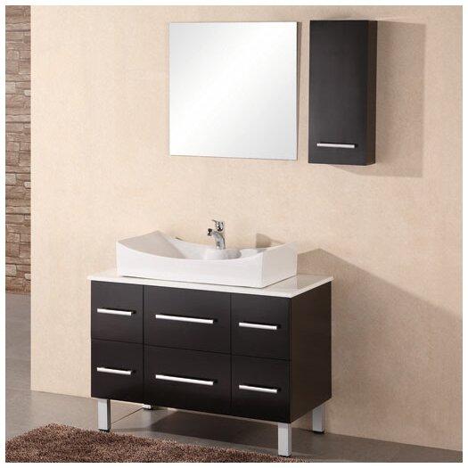 "Design Element Paris 36"" Single Bathroom Vanity Set with Mirror"
