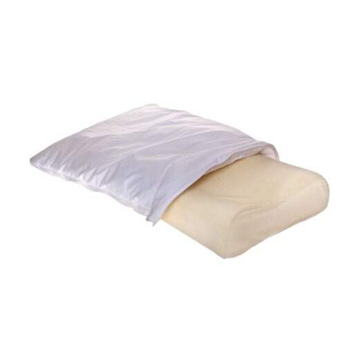 Deluxe Comfort Contour Pillow with Fiberfill Cover