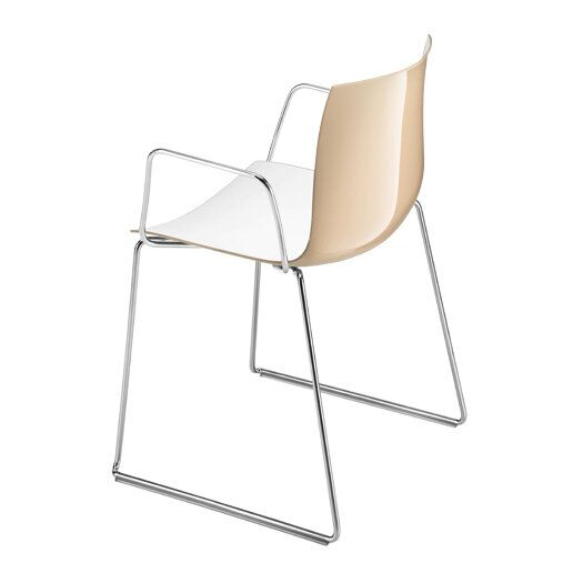 Catifa 53 Polypropylene Two-Tone Armchair with Sled Base