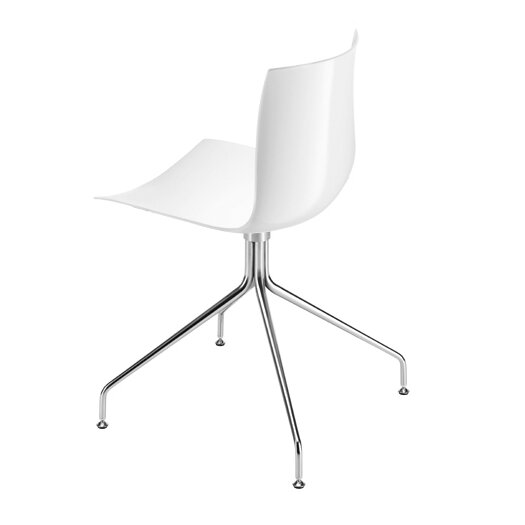 Catifa 46 Polypropylene Chair with 4-Way Swivel Trestle Base on Glides