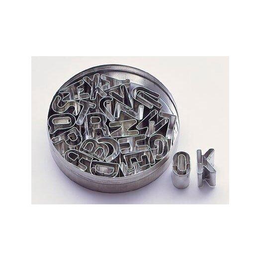 Paderno World Cuisine Tin Alphabet Dough Cutter