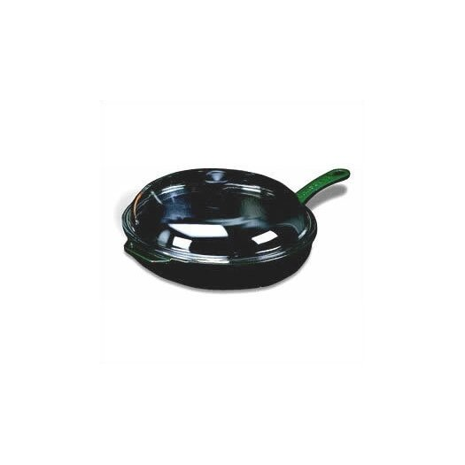 """Paderno World Cuisine Cast Iron 11"""" Non-Stick Skillet with Lid"""