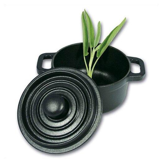Paderno World Cuisine 0.33 Qt. Cast Iron Round Cocotte