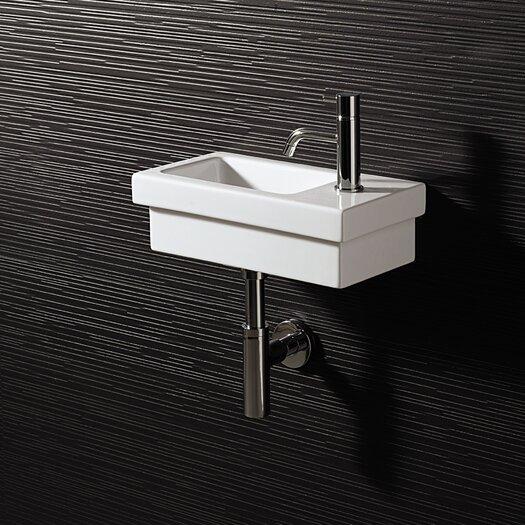Bissonnet Area Boutique Logic 42 Ceramic Bathroom Sink