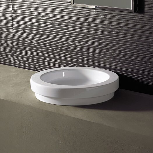Bissonnet Area Boutique Logic 43 Ceramic Bathroom Sink