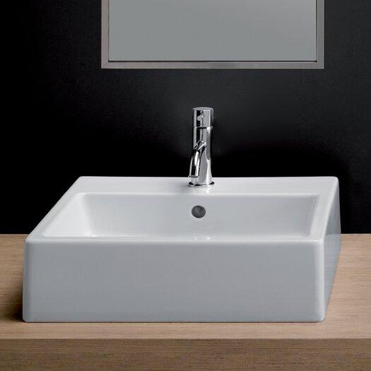 Bissonnet Area Boutique Ice Large Square Ceramic Bathroom Sink
