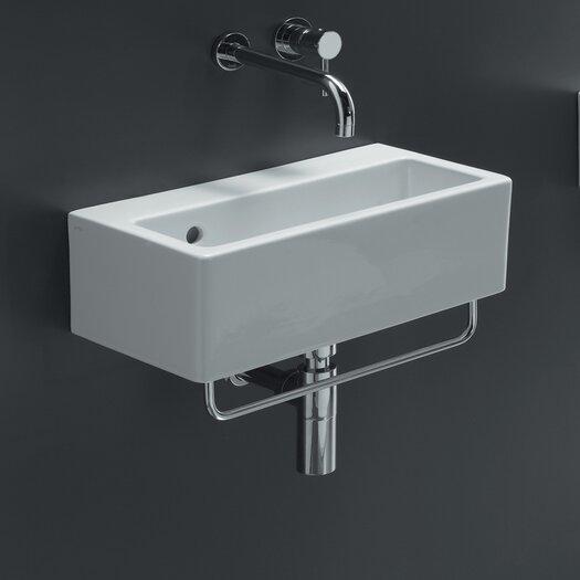 Bissonnet Area Boutique Ice Rectangle Ceramic Bathroom Sink