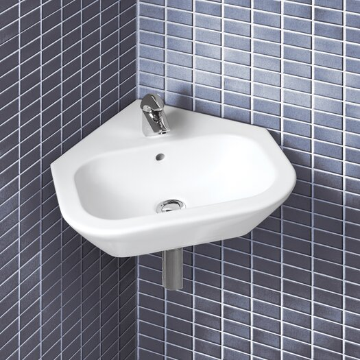 Bissonnet Universal Nexus Wall Mount Corner Bathroom Sink