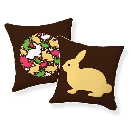 Naked Decor Baby Bunny Cotton Throw Pillow