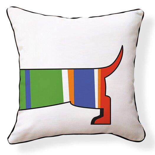 Naked Decor Dachshund Cotton Throw Pillow