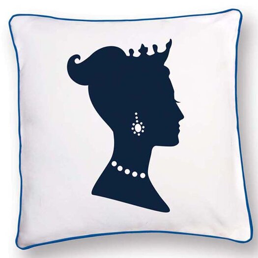 Naked Decor British Invasion Princess Reversible Cotton Throw Pillow
