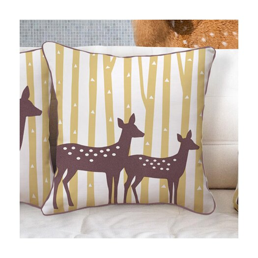 Naked Decor Spotted Deer Cotton Throw Pillow