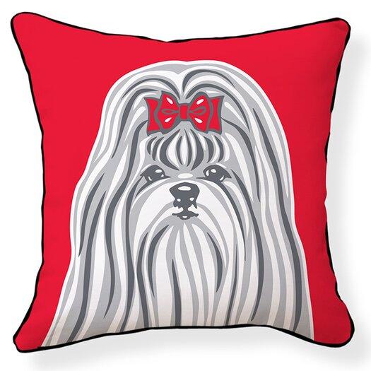 Naked Decor Shih Tzu Cotton Throw Pillow