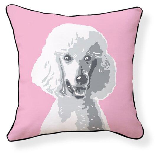 Naked Decor Poodle Cotton Throw Pillow