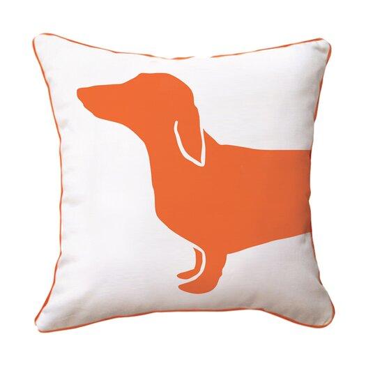 Naked Decor Hot Dog Happy Cotton Throw Pillow