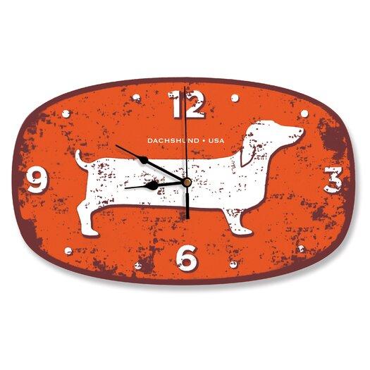 Naked Decor Dachshund USA Wall Clock
