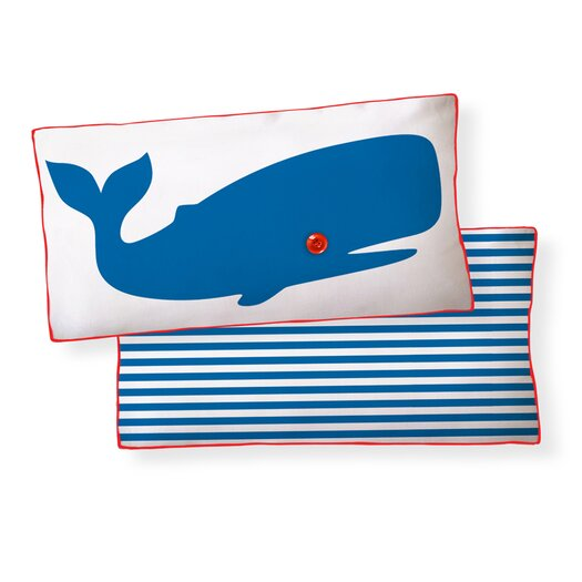 Naked Decor Whale Double Sided Cotton Boudoir/Breakfast Pillow