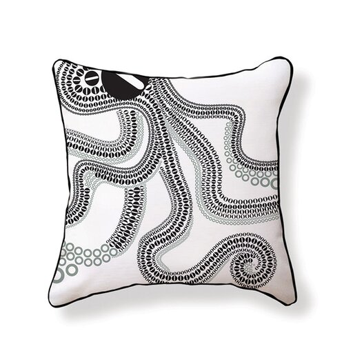 Naked Decor O is for Octopus Cotton Throw Pillow
