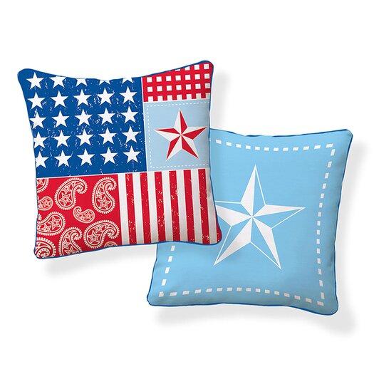 Naked Decor Americana Cotton Throw Pillow