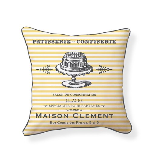 Naked Decor French Patisserie Cotton Throw Pillow