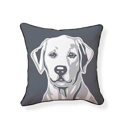 Naked Decor Labrador Retriever Cotton Throw Pillow