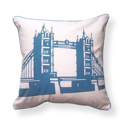 Naked Decor British Invasion Reversible Tower Bridge of London Cotton Throw Pillow