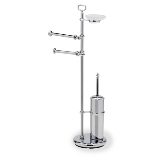 Stilhaus by Nameeks Elite Free Standing Classic Style Four Function Bathroom Butler in Chrome