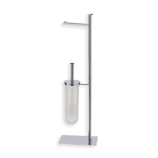 Stilhaus by Nameeks Quid Free Standing Two Function Bathroom Butler in Chrome