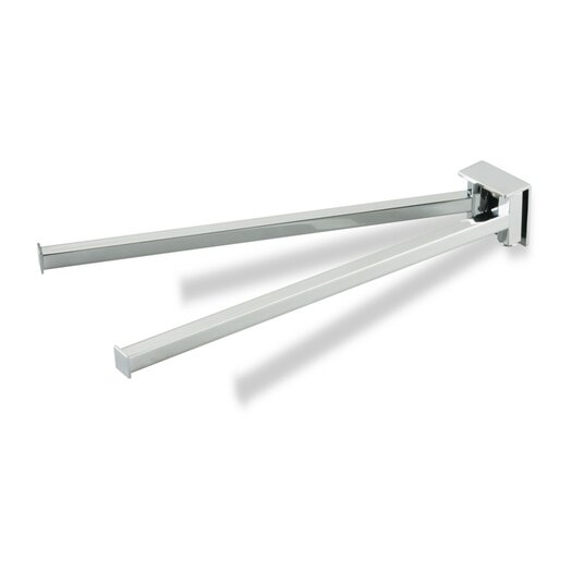 Stilhaus by Nameeks Urania Wall Mounted Swivel Double Towel Bar