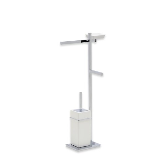 Stilhaus by Nameeks Urania Free Standing Four Function Bathroom Butler in Chrome