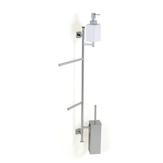 Stilhaus by Nameeks Urania Wall Mounted Bathroom Butler in Chrome