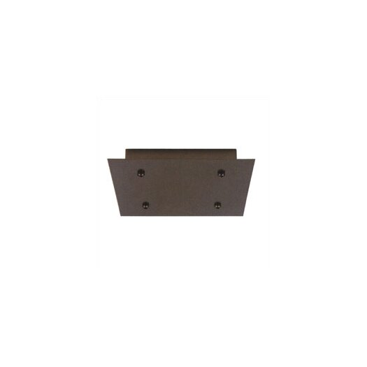 LBL Lighting Fusion Jack Four Port Square LED Canopy in Satin Nickel