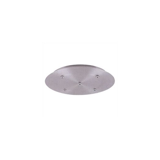 LBL Lighting Fusion Jack Five Port Round LED Canopy in Bronze