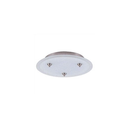 LBL Lighting Fusion Jack Three Port Round Canopy in Bronze