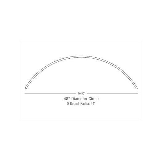"LBL Lighting 48"" Monorail Circle in Satin Nickel"