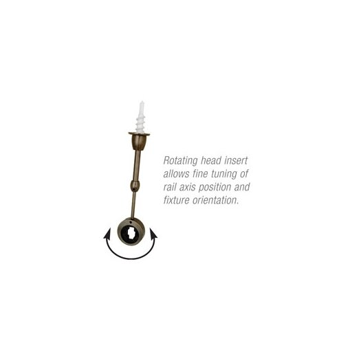 LBL Lighting Standoff Ball Joint Assembly in Antique Bronze